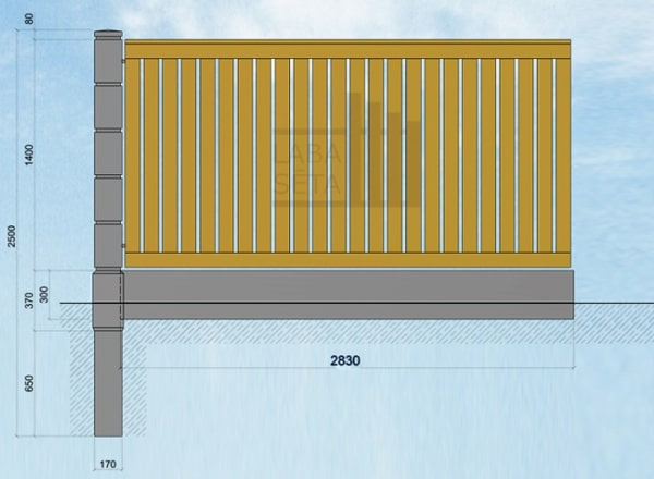 Fence Column Dimensions